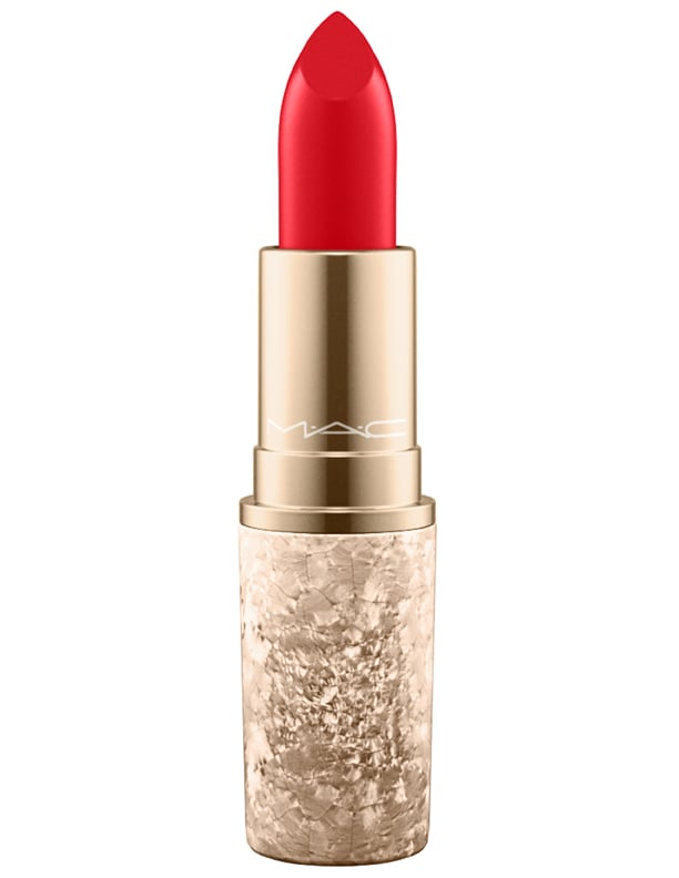 MAC Snow Ball Lipstick in Rouge En Snow