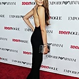 At Teen Vogue's Young Hollywood Issue Launch Party in LA, Kaia opted for a striking black jumpsuit with a low back.