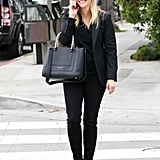 Reese Witherspoon smiled as she talked on her phone in LA.