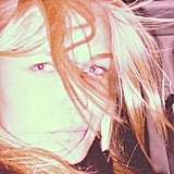 Lara Bingle snapped this brightly-exposed pic of her blonde locks. If only we looked so good with messy hair! Source: Instagram user Mslbingle