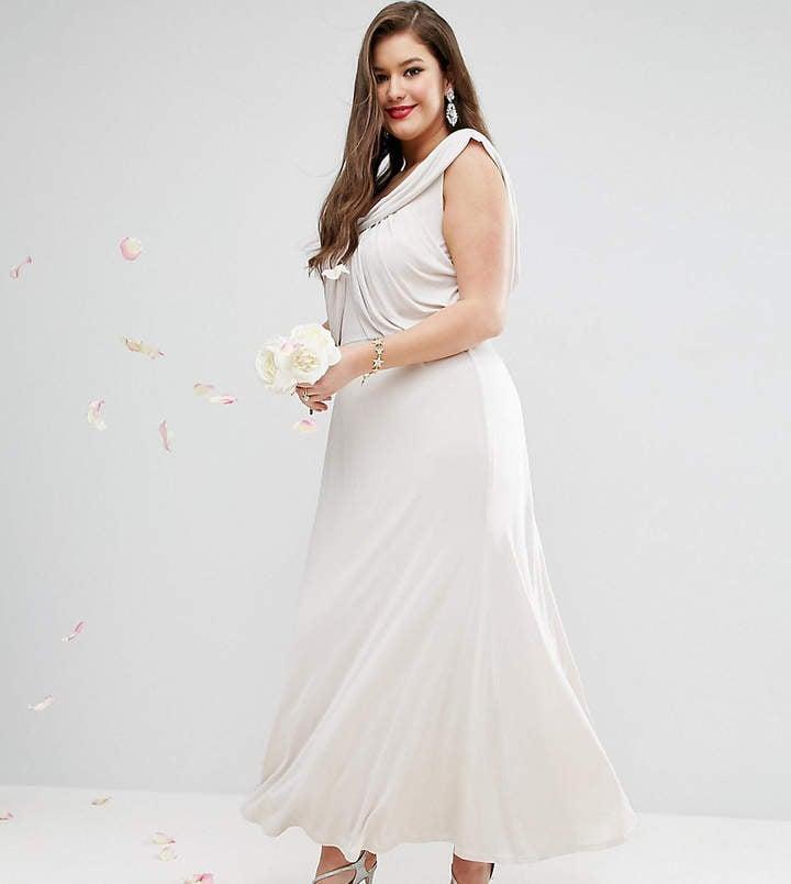ASOS Wedding Slinky Drape Dress