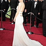 Rooney Mara's lovely lace train on her Givenchy Couture gown.