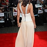 The back of Cheryl's Victoria Beckham Spring 2012 dress is just as stunning as the front.