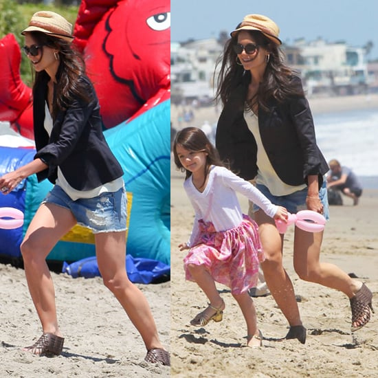 Katie Holmes and Suri Cruise Beach Style