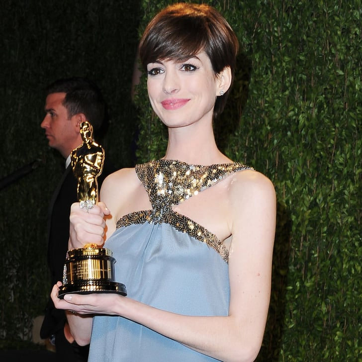 Anne Hathaway Oscar Party Dress 2013