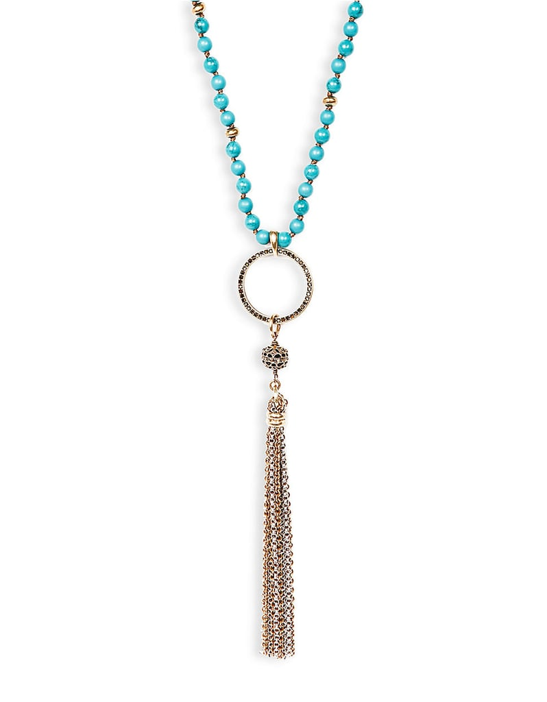 Lucky Brand Tassel & Bead Necklace