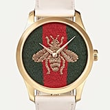 Gucci G-Timeless Gold-Tone and Leather Watch ($1,424.92)