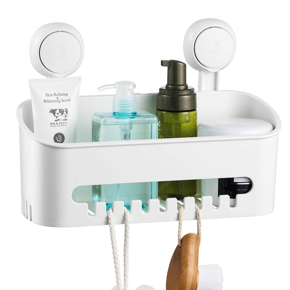 Ilikable Vacuum Shower Caddy Removable Bathroom Shelf