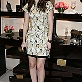 Leighton Meester at Roger Vivier in NYC.