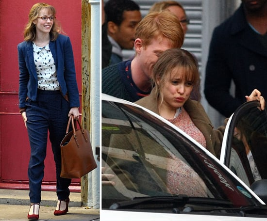 Rachel McAdams Puts In Some Serious Labor on Set