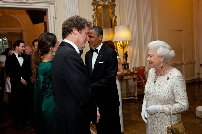 British actor Colin Firth was greeted by both President Obama and Queen Elizabeth II at a dinner in the royal's honor in London in May 2011. Source: Flickr user The White House