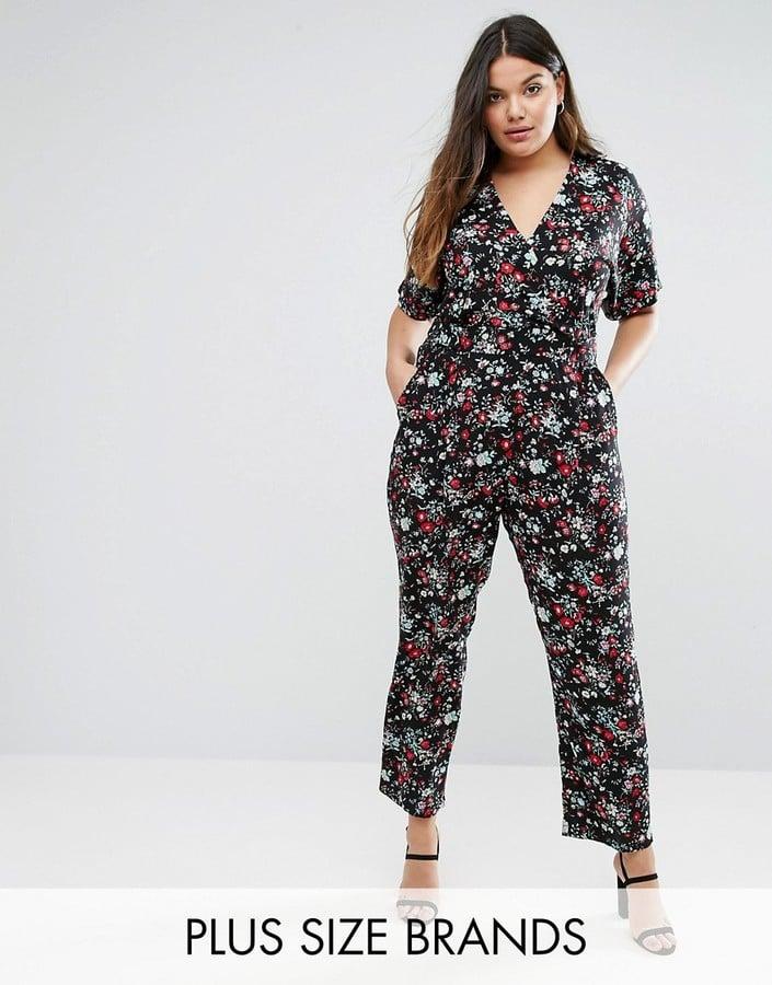 fdc10c8f76f6 Uttam Boutique Plus Jumpsuit in Floral Print