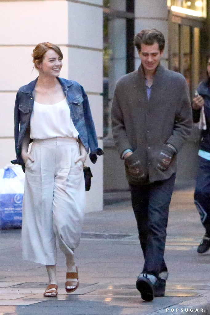 Emma Stone and Andrew Garfield Out in London August 2016