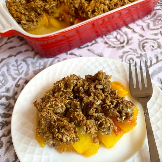 Low-Sugar, Vegan Peach Crisp