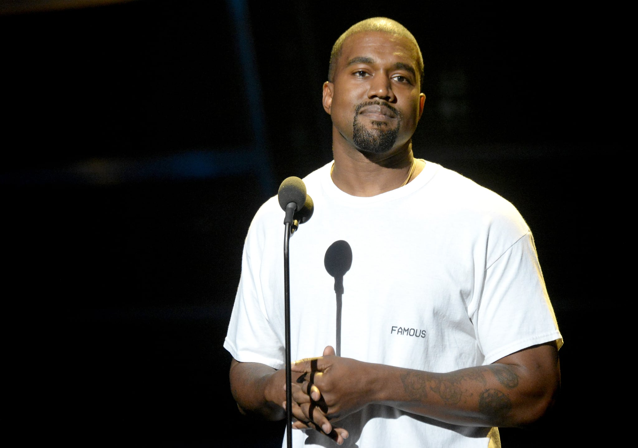 Kanye West With Blond Hair 2016 Popsugar Beauty