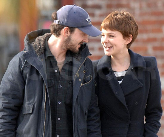 Slide Photo of Shia LaBeouf and Carey Mulligan in LA on New Year's Eve