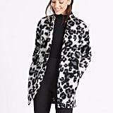 Marks & Spencer Textured Animal-Print Coat