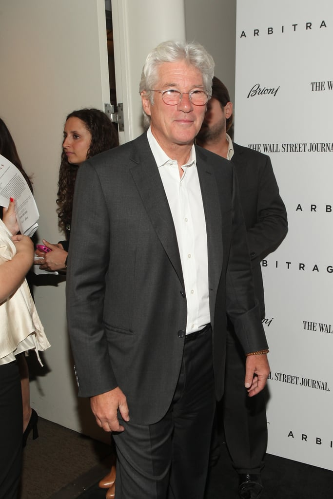 Richard Gere arrived at the Arbitrage premiere in NYC.