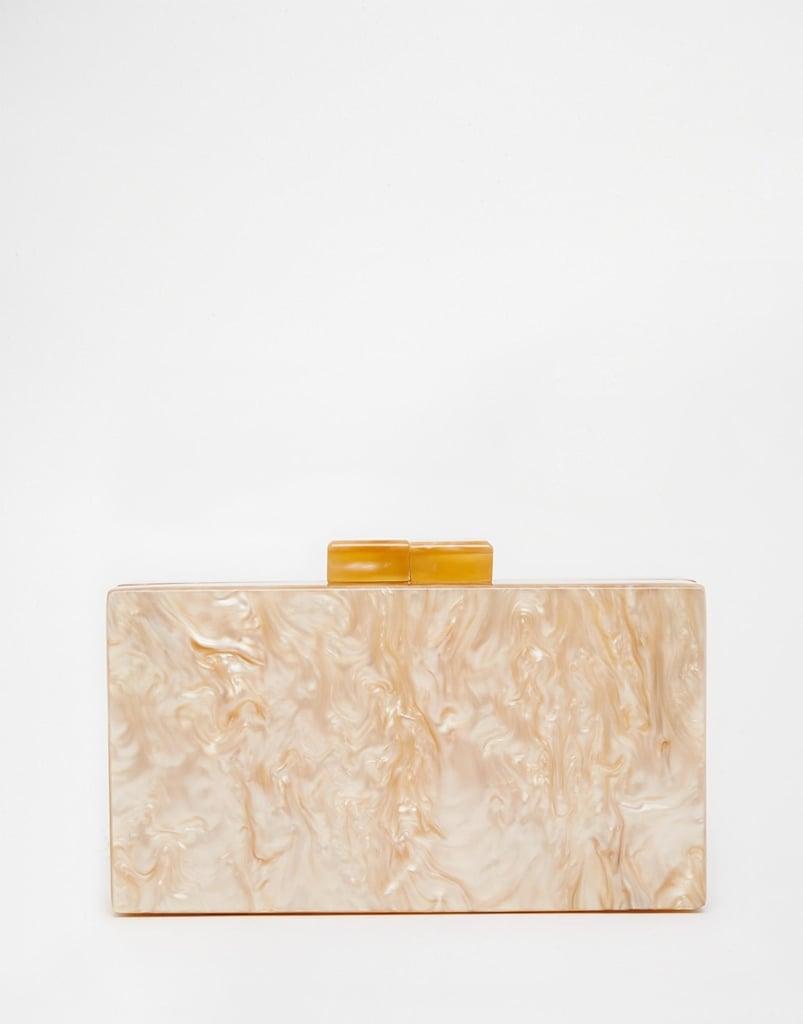 ASOS Marble Box Clutch Bag ($41)