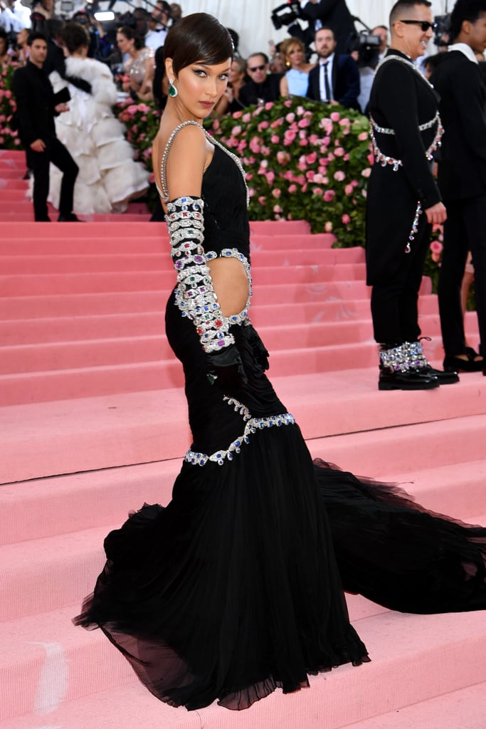 bella hadid's black dress at met gala 2019  popsugar fashion