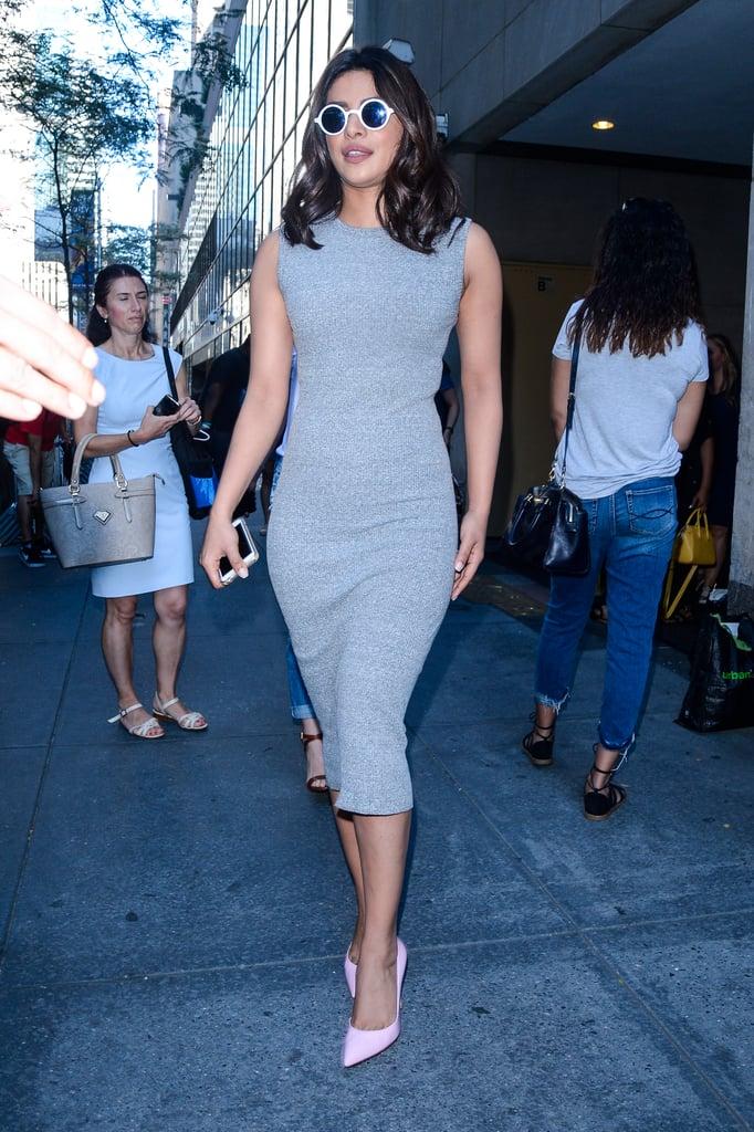 Priyanka Chopra Gray Dress on the Today Show 2016