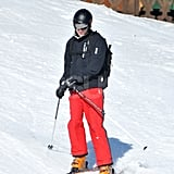 Prince William made a turn while skiing in France with the Middletons.