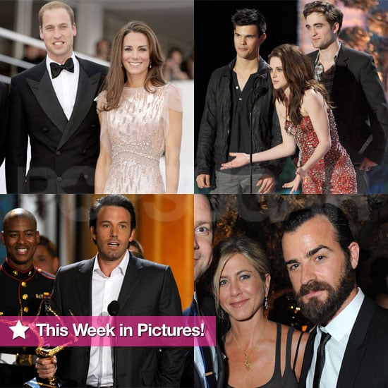 William and Kate's Big Night, Jen's New Romance, Rob and Kristen Do MTV, and More in This Week in Pictures!