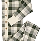 Burt's Bees Baby Kids' Organic Holiday Buffalo Plaid One-Piece