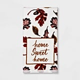 Harvest Home Sweet Home Leaves Print Hand Towel