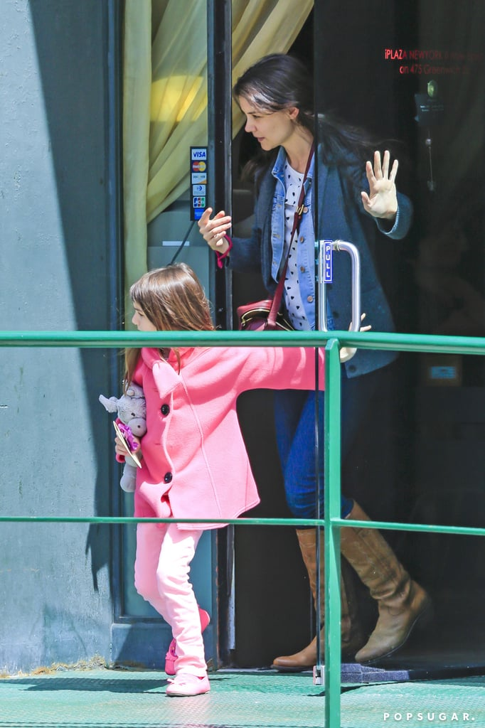 "Katie Holmes had a multigenerational spa outing in NYC Saturday. Along with her daughter, Suri Cruise, and mom, Kathleen Holmes, Katie spent time during the afternoon at the i-Plaza Nail & Spa salon in Manhattan's Tribeca neighborhood. Katie and her daughter, Suri, got pedicures along with grandma Kathleen, and Suri apparently stayed entertained during the session with her iPad.  It was a special outing for little Suri, who celebrated her seventh birthday last week. Suri was able to celebrate with both her mother and father. Her dad, Tom Cruise, wished her well by spending time with her in NYC as his Oblivion press tour took him through the city — his hard work promoting the picture helped earn it the No. 1 box office spot over the weekend. In one interview, Tom gave some insight as to how he and Suri marked her special day. Tom told Ryan Seacrest, ""I take care of the kids early. You'll know, you have to plan ahead for these things. It's all done and all celebrated."" As for whether or not trim Tom indulges in Suri's birthday goodies, Tom added, ""I'll eat cake, cupcakes. I eat all that stuff."""