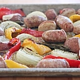 Roasted Italian Sausages With Onions and Peppers