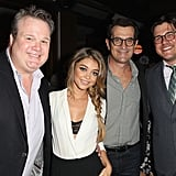 Meanwhile, Julie's Modern Family costars Eric Stonestreet, Sarah Hyland, and Ty Burrell met up with Mad Men's Rich Sommer.