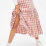 Gap Gingham Midi Skirt
