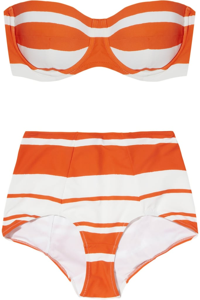This Dolce & Gabbana Striped bandeau bikini ($660) is perfect for channeling Sophia Loren while poolside — just add oversize shades and a fabulous hat.