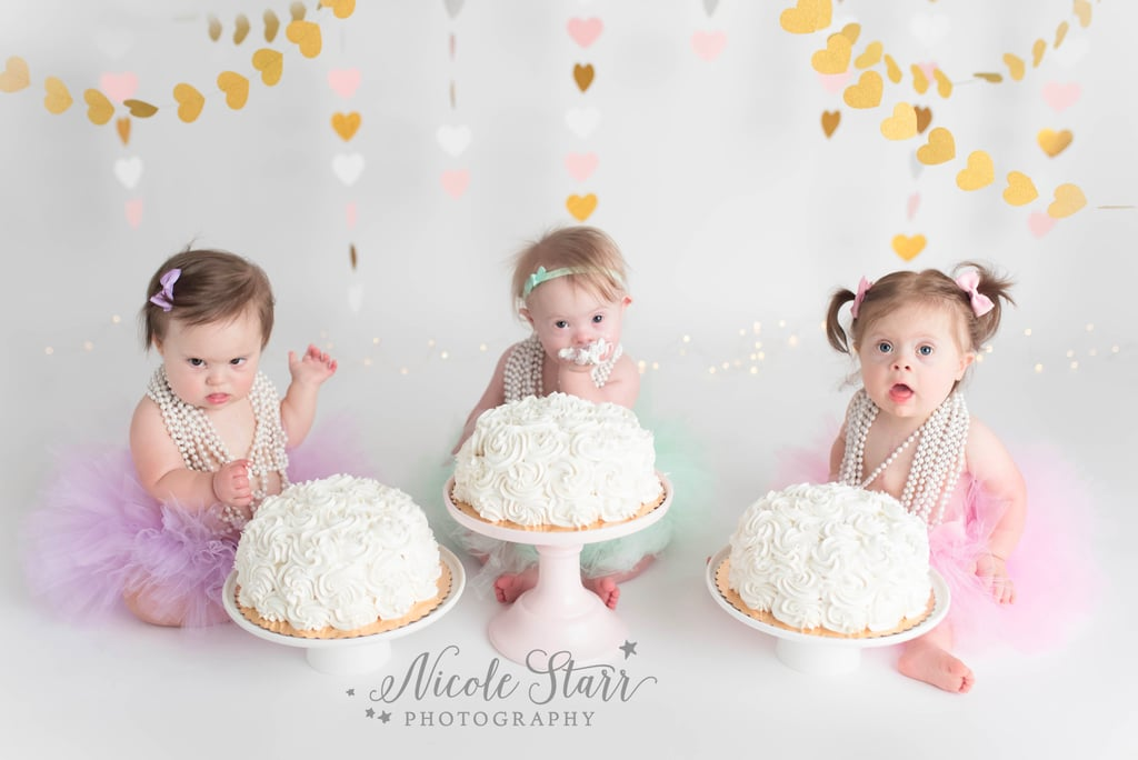 Three of Hearts Girls With Down Syndrome Cake Smash