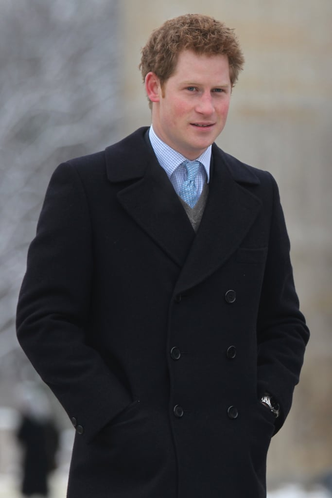 Prince Harry wrapped up warm while visiting the Brandenburg Gate on Sunday. He also visited the Berlin Wall memorial, and laid a wreath to pay tribute to those who died trying to escape East Germany. On Saturday he attended the Ein Herz Fuer Kinder gala, where he was honoured for his charity work. Last month Harry commemorated soldiers killed in the Afghanistan conflict. While Harry was in Germany, Prince William and Kate Middleton stepped out together in England at a Teenager Cancer Trust Christmas fundraiser. Harry has spoken about his delight at Wills and Kate's engagement, and their happy news was one of the biggest headlines of the year. Wills, Harry, and Kate are all in the running to be named your favourite British personality of 2010.