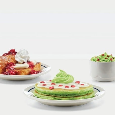 Grinch Menu at IHOP