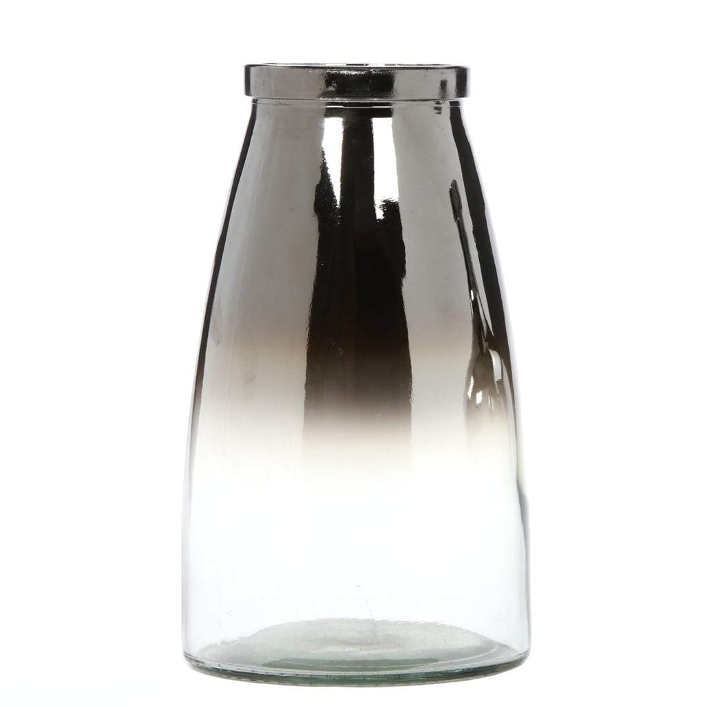 """Elegant Expressions by Hosley 10"""" H Ombre Silver Glass Vase"""