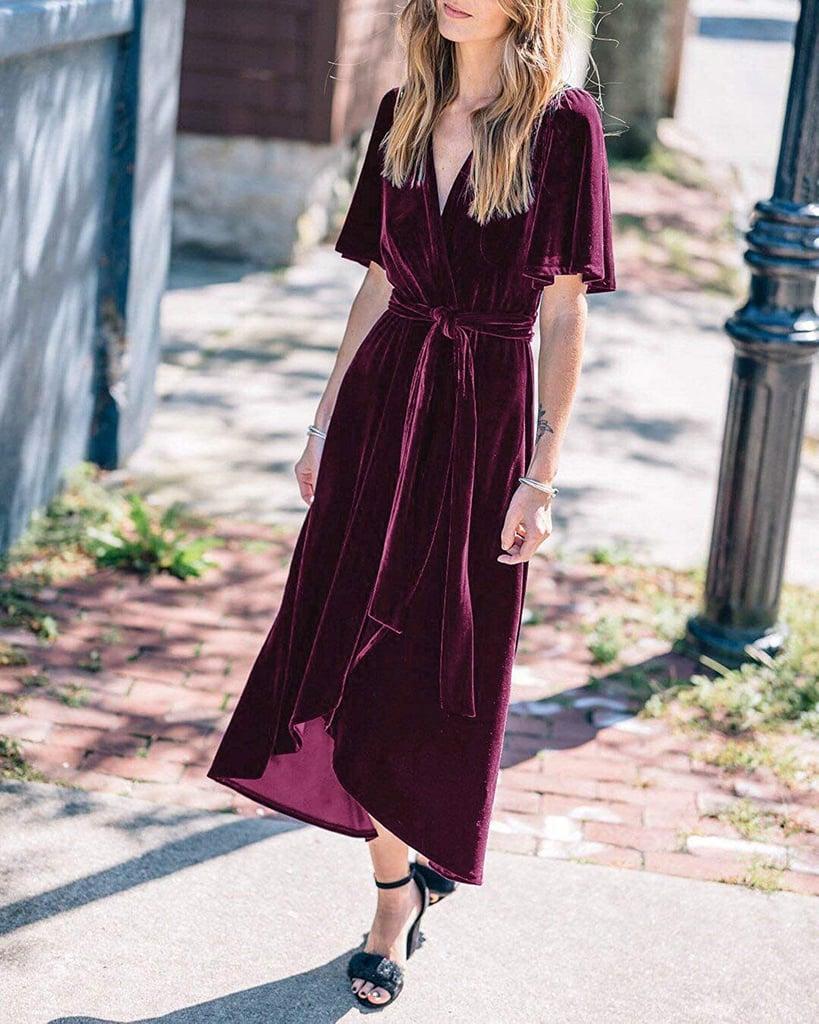 R.Vivimos Velvet Wrap Dress