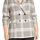Halogen Plaid Double Breasted Blazer