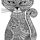 get the coloring page cat