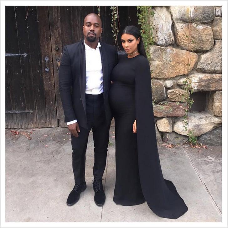 Kim Kardashian's Black Valentino Cape Dress