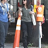 Sandra Bullock was spotted in Cambridge, MA, working on The Heat.
