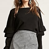 Forever 21 Billowy Tiered-Sleeve Top