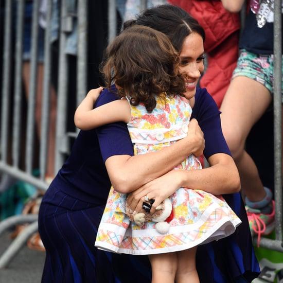 Meghan Markle Hugging Little Girl in New Zealand 2018