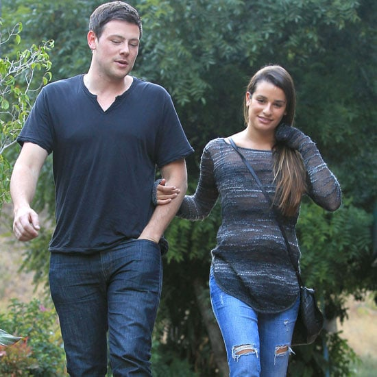 Cory Monteith and Lea Michele Lunch Date Pictures