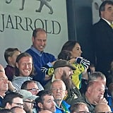 William, Kate, George, and Charlotte at Soccer Game Pictures