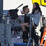 "Justin gave Selena a life on the set of his ""Boyfriend"" music video in April 2012."