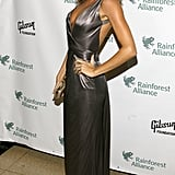 Gisele Bündchen in a Metallic Versace Gown at a 2009 NYC Gala