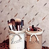Mason Jar Makeup Holders